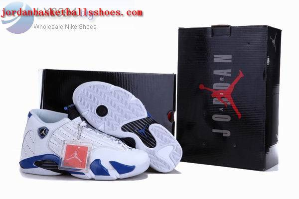 Sale Air Jordans 14 Retro white blue Shoes On 1TOPJORDAN