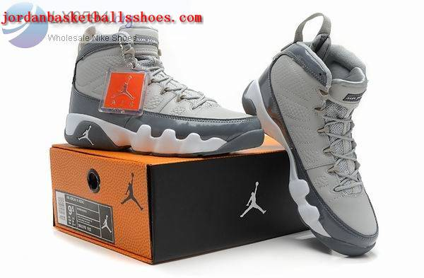 Sale Air Jordans 9 Retro grey white Shoes On 1TOPJORDAN