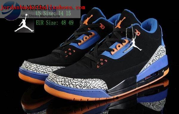Sale Air Jordans 3 Big Size US 14 15 black blue Shoes On 1TOPJORDAN