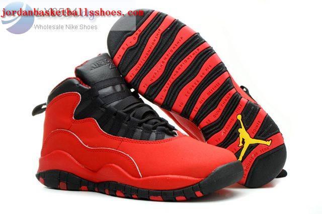 Sale Womens Air Jordans 10 GS Fusion Red Shoes On 1TOPJORDAN