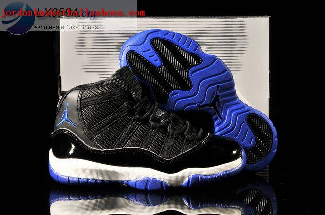Sale Air Jordans 11 Kids black blue white Shoes On 1TOPJORDAN
