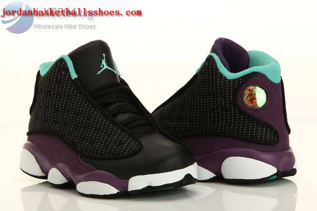 Sale Air Jordans 13 Kids black purple white Shoes On 1TOPJORDAN