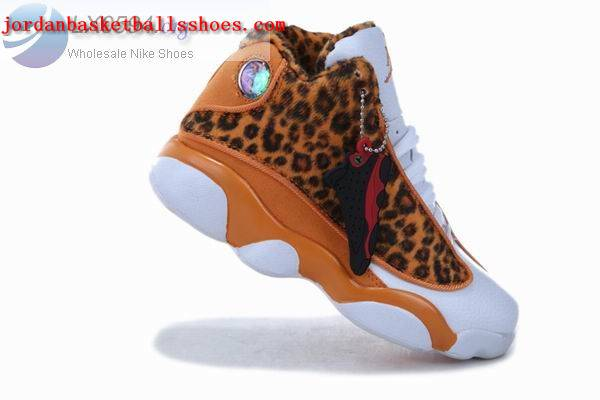 Sale Air Jordans 13 Kids Cheetah Print Orange Shoes On 1TOPJORDAN