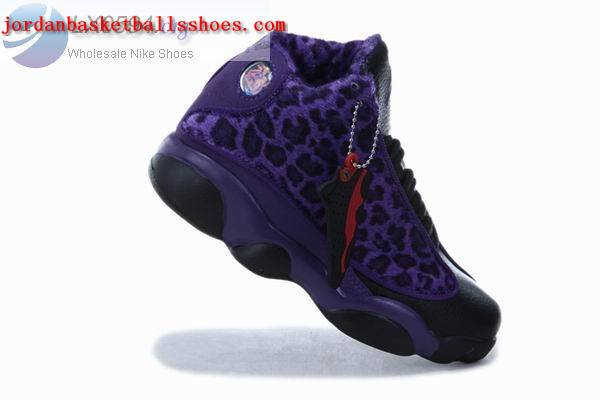 Sale Air Jordans 13 Kids Cheetah Print Purple Shoes On 1TOPJORDAN