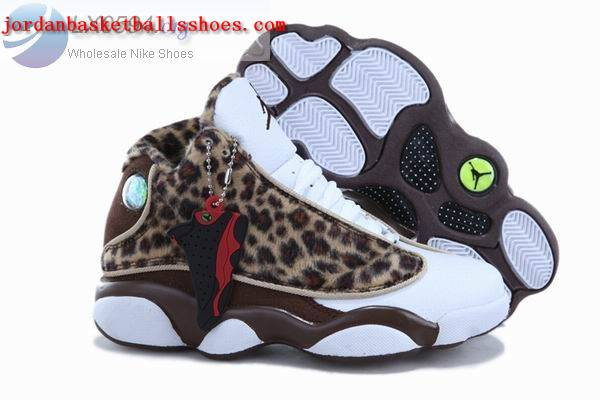 Sale Air Jordans 13 Kids Leopard Print Chocolate Shoes On 1TOPJORDAN