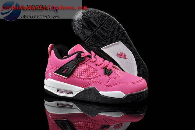 ac6ae7ca9ee Sale Air Jordans 4 Kids pink black white Shoes On 1TOPJORDAN [NAJB ...