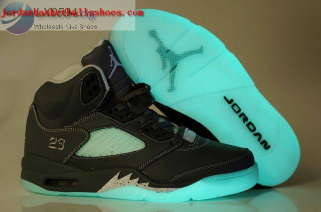 Sale Air Jordans 5 glow in the dark Grey Shoes On 1TOPJORDAN