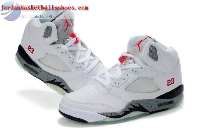Sale Air Jordans 5 Women white grey Shoes On 1TOPJORDAN