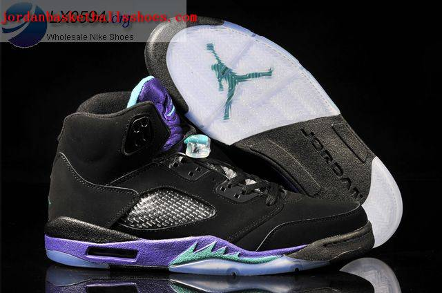 Sale Air Jordans 5 Black Grape Women Purple Shoes On 1TOPJORDAN