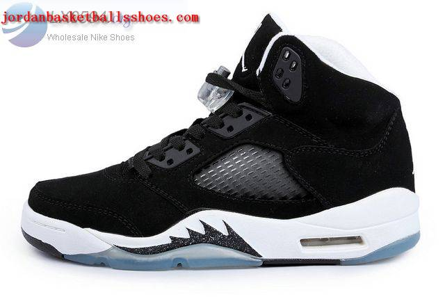 Sale Air Jordans 5 Oreo Womens Black White Shoes On 1TOPJORDAN