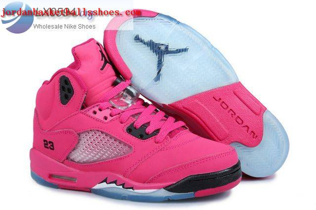 Sale Girls Air Jordans 5 Retro Pink Shoes On 1TOPJORDAN