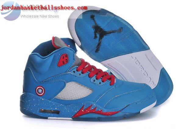Sale Air Jordans 5 Captain America Womens Shoes On 1TOPJORDAN