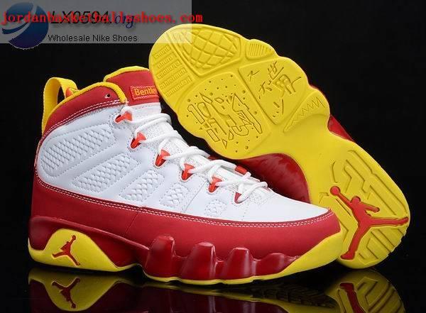 Sale Air Jordans 9 bentley ellis white red Shoes On 1TOPJORDAN