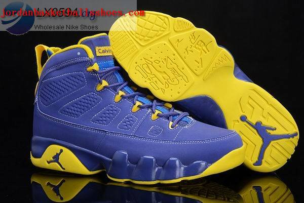 Sale Air Jordans 9 calvin bailey blue yellow Shoes On 1TOPJORDAN
