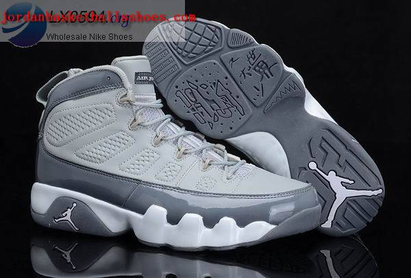 Sale Air Jordans 9 calvin bailey grey white Shoes On 1TOPJORDAN