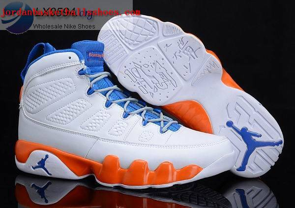 Sale Air Jordans 9 fontay montana white orange Shoes On 1TOPJORDAN