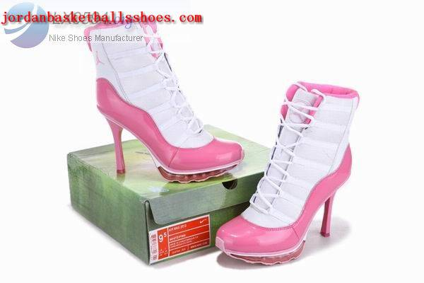 Sale Air Jordans 11 High Heels White Pink Shoes On 1TOPJORDAN