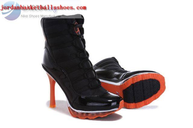 Sale Air Jordans 11 High Heels Black Red Shoes On 1TOPJORDAN