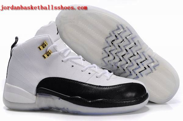 Sale Retro Jordan 12 Original black White Shoes On 1TOPJORDAN
