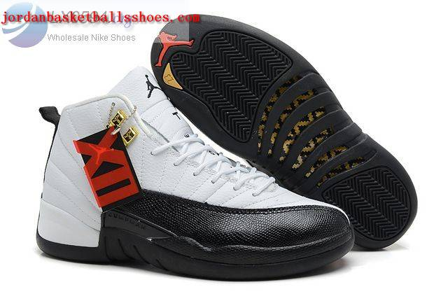 Sale Air Jordans 12 Retro white black Shoes On 1TOPJORDAN