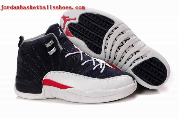 Sale Air Jordans 12 Retro dark blue white Shoes On 1TOPJORDAN