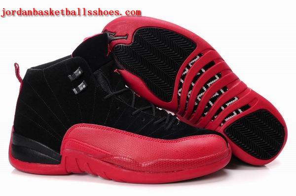 Sale Air Jordans 12 Retro black red Shoes On 1TOPJORDAN