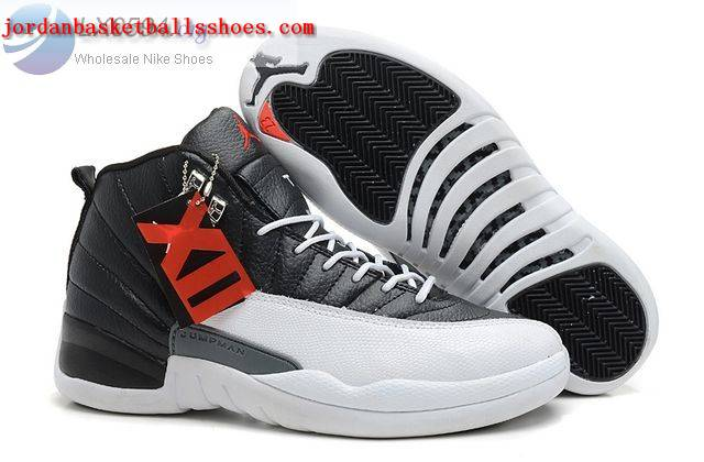 Sale Air Jordans 12 Retro Black White Shoes On 1TOPJORDAN