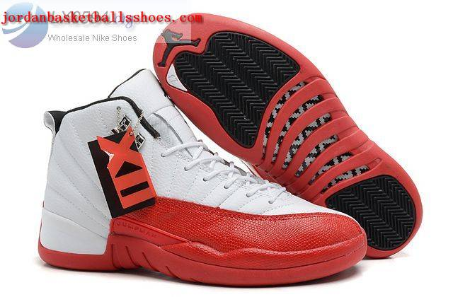 Sale Air Jordans 12 Retro white red Shoes On 1TOPJORDAN