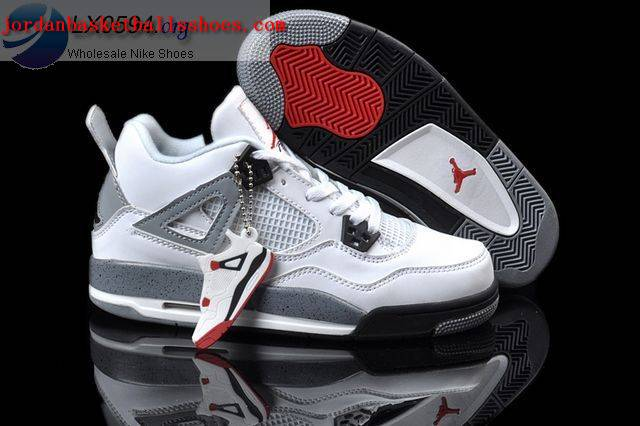 Sale Air Jordans 4 Women white grey Shoes On 1TOPJORDAN