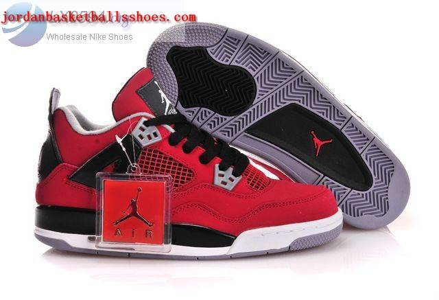 Sale Air Jordans 4 Women red black Shoes On 1TOPJORDAN