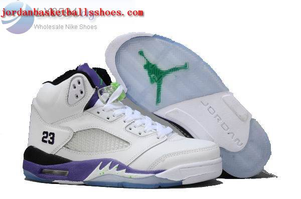Sale Air Jordans 5 Women white purple Shoes On 1TOPJORDAN