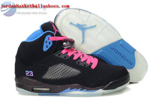 Sale Air Jordans 5 Women black blue Shoes On 1TOPJORDAN