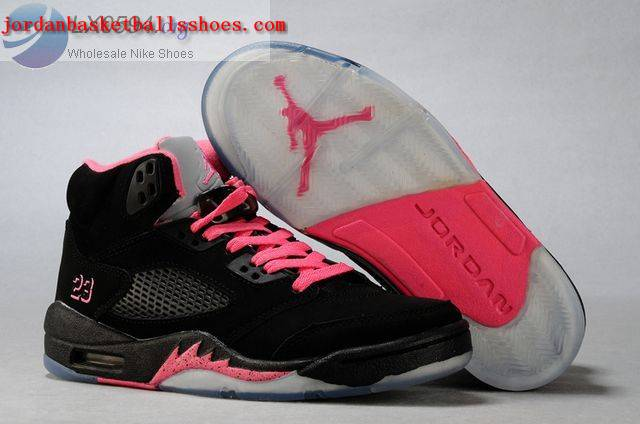Sale Air Jordans 5 Women black pink Shoes On 1TOPJORDAN