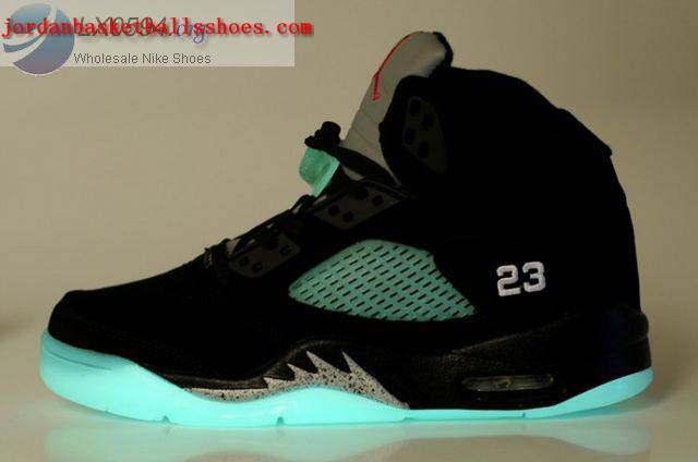 Sale Air Jordans 5 Women glow in the dark black Shoes On 1TOPJORDAN