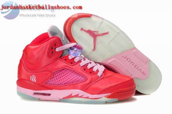 Sale Air Jordans 5 Women red pink Shoes On 1TOPJORDAN