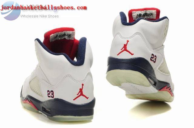 Sale Air Jordans 5 Women white dark blue Shoes On 1TOPJORDAN