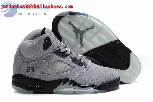 Sale Air Jordans 5 Women grey black Shoes On 1TOPJORDAN