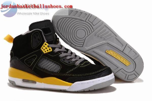 Sale Air Jordans Spizike black yellow Shoes On 1TOPJORDAN