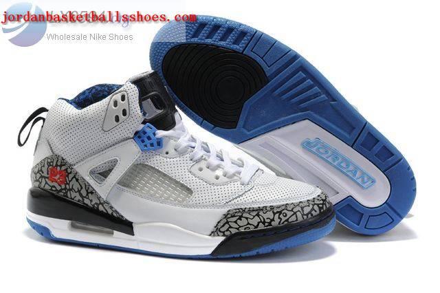 Sale Air Jordans Spizike white black blue Shoes On 1TOPJORDAN