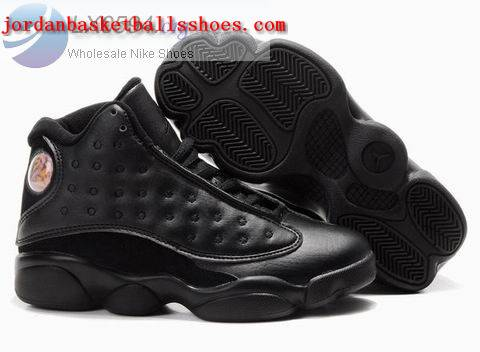Sale Air Jordans 13 Kids all black Shoes On 1TOPJORDAN