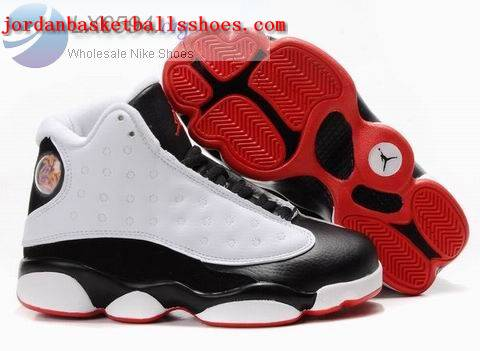 Sale Air Jordans 13 Kids white black Shoes On 1TOPJORDAN