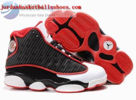 Sale Air Jordans 13 Kids black white red Shoes On 1TOPJORDAN