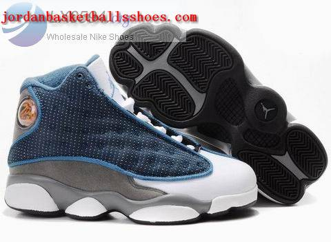 Sale Air Jordans 13 Kids blue grey white Shoes On 1TOPJORDAN