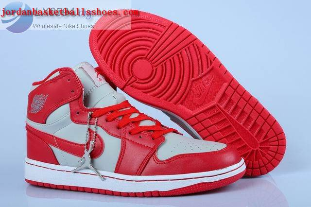Sale Air Jordans 1 Womens Red and White Shoes On 1TOPJORDAN
