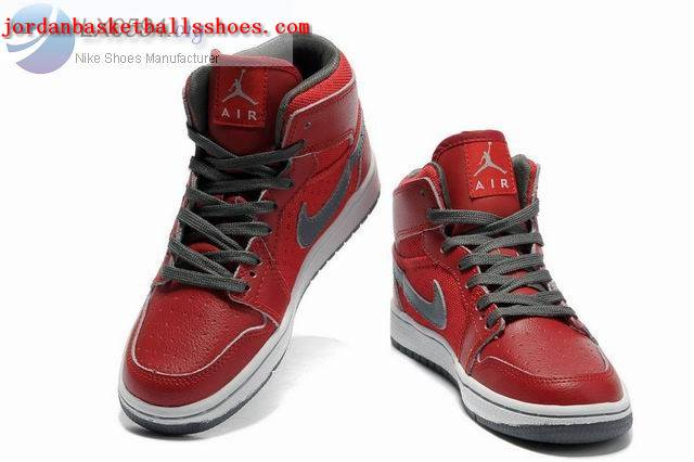 Sale Girls Air Jordans 1 Phat Red grey white Shoes On 1TOPJORDAN