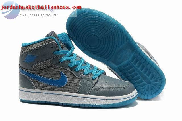 Sale Girls Air Jordans 1 Phat Grey blue white Shoes On 1TOPJORDAN