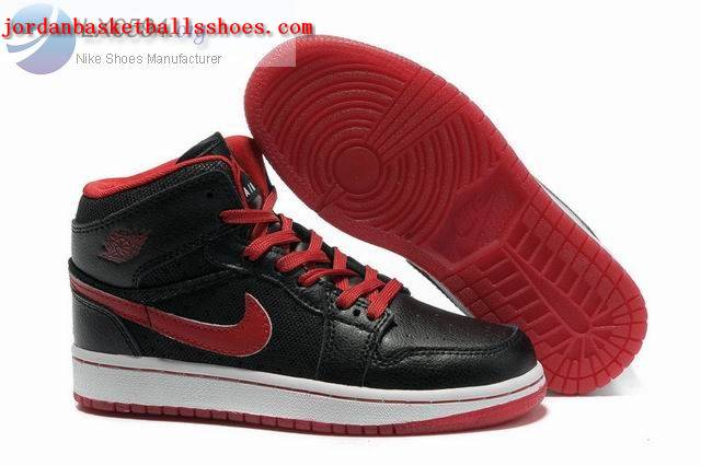 Sale Girls Air Jordans 1 Phat Black Red Shoes On 1TOPJORDAN