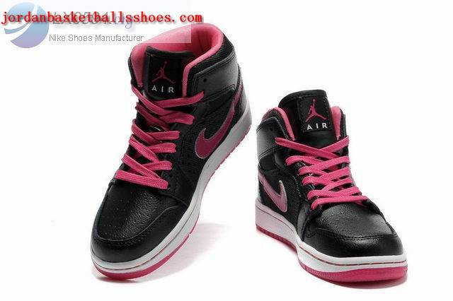 Sale Girls Air Jordans 1 Phat Black Pink Shoes On 1TOPJORDAN
