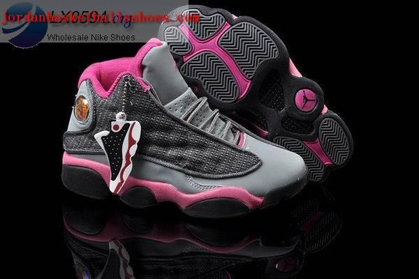 Sale Air Jordans 13 Women grey pink Shoes On 1TOPJORDAN