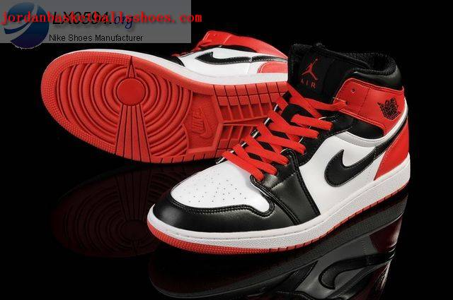 jordan 1 white black red